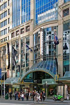 Australia on Collins.  Melbourne, Victoria Australia. City