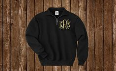 This monogrammed 1/4 zip pullover is the perfect sweatshirt for fall & winter to keep you warm!  High quality 1/4 zip pullover is 50% cotton,