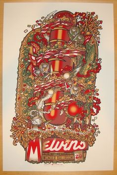 2013 Melvins - Portland Silkscreen Concert Poster by Guy Burwell