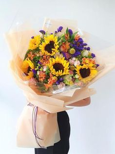 Bouquet to impress, Anniversary. Sunflower Bouquets, Design, Design Comics, Sunflower Arrangements