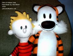 Calvin and Hobbes plush dolls (Calvin & Hobbes comic strip) - TOYS, DOLLS AND PLAYTHINGS