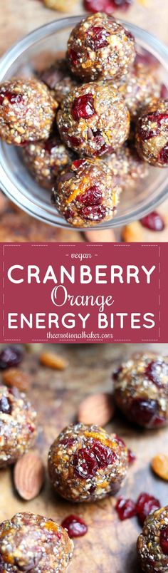 These Cranberry Orange Energy Bites have bright, bold flavor that will give you a jolt for studying, exercising & everything in between. #EverythingOrange