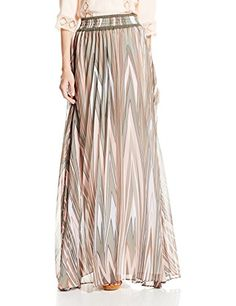 Twelfth Street by Cynthia Vincent Women's Pleated Maxi Skirt