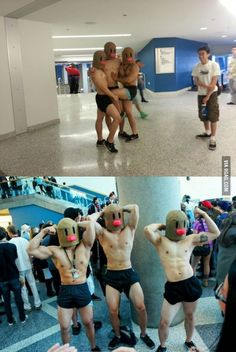Cosplay Anime Best Dugtrio Cosplay Ever. - More memes, funny videos and pics on Funny Cosplay, Cosplay Costumes, Anime Cosplay, Pokemon Cosplay, Funny Images, Funny Pictures, Funny Pics, Funniest Pictures, Funny Videos