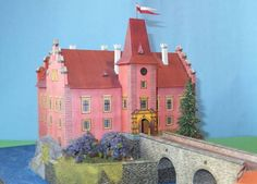 This building paper model is the Červená Lhota Castle, created by ABC, and the scale is in 1:150. Červená Lhota is a château about 20 kilometres (12 mi) no
