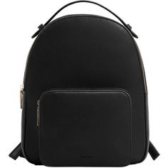 MANGO Zip Pebbled Backpack ($50) ❤ liked on Polyvore featuring bags, backpacks, backpack, accessories, bolsas, bolsos, mango bags, handle bag, zipper backpack and rucksack bags