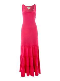 Denim and Supply Ralph Lauren Sleeveless jersey tier maxi dress Pink - House of Fraser