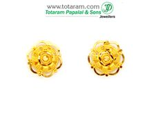 Gold Earrings for Women in 22K Gold - GER5278 - Indian Jewelry from Totaram Jewelers