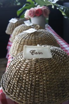 neat idea, pretty cover-up for picnic food