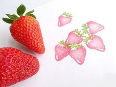 He encontrado este interesante anuncio de Etsy en https://www.etsy.com/es/listing/189331720/strawberry-stamp-fresh-fruits-berry