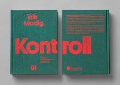 Kontroll Book by Snask – Silkscreen on debossed illustration