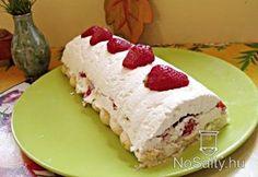 Túrós-tejszínes-epres őzgerinc Hungarian Cake, Hungarian Recipes, Just Eat It, Cheesecake, Dairy, Food, Cakes, Cheesecake Cake, Cheesecakes
