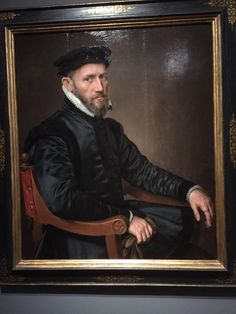 """""""Sir Thomas Gresham, leading English merchant in Antwerp & painted by Anthonis Mor Almost photographic quality"""" Antwerp, Historical Clothing, 16th Century, Vintage Men, Renaissance, Gentleman, English, Canvas, Painting"""