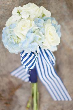 blue Hydrangeas & the ribbon