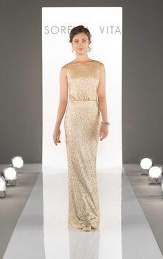 Bridesmaid dress - 8824 Blouson Bodice Sequin Bridesmaid Dress by Sorella Vita
