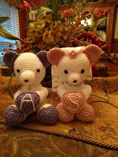 Bride and groom teddy bears bride and groom teddy bear set crochet teddy bear bride and groom dollwedding by hybscrafthouse fandeluxe Ebook collections