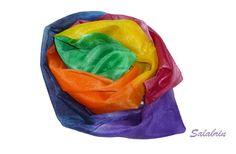 Seidenschals - Damen Schal Regenbogen - ein Designerstück von Salabrin bei DaWanda