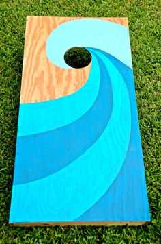 Totally Tubular Corn Hole DIY-Girl With A Surfboard