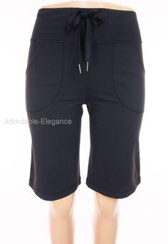 LULULEMON Still Shorts 2 XS Extra Small Black Yoga Work Out Casual #Lululemon #Shorts