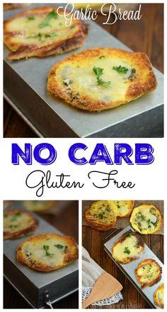 Carb Free Gluten Free Garlic Bread - Düşük karbonhidrat yemekleri - Las recetas más prácticas y fáciles No Carb Recipes, Ketogenic Recipes, Diet Recipes, Cooking Recipes, Healthy Recipes, Primal Recipes, Bread Recipes, Garlic Recipes, Flour Recipes