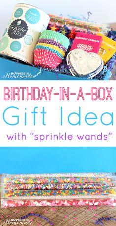 Cupcake Birthday In A Box Gift Idea