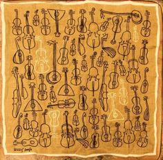 Tammis Keefe string instrument handkerchief