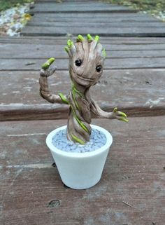 Polymer clay baby Groot!
