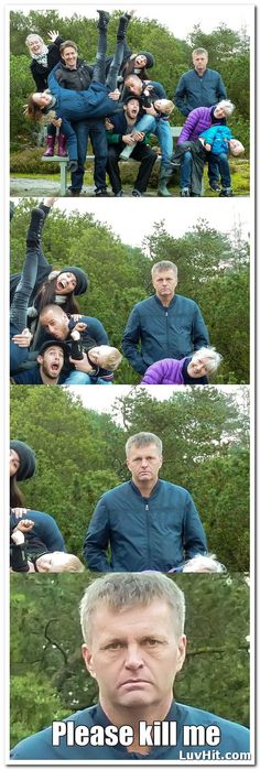 Come on, dad One silly one! 19 Family Photos Gone Wrong very Very Wrong – Humor bilder Haha Funny, Funny Cute, Funny Jokes, Funny Stuff, Super Funny, Funny Things, Photo Fails, Awkward Family Photos, Family Pics