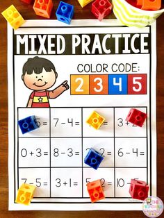 Check out this activity to practice addition and subtraction! Includes 24 different practice pages. Just print and slide in page protectors. Students solve the equations and use the color code at the top to show their answers. First Grade Teachers, First Grade Math, New Teachers, Second Grade, Addition And Subtraction Practice, Fun Math Activities, Teaching Jobs, Teaching Ideas, Solving Equations