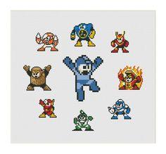 Megaman Sampler Bosses Cross Stitch Pattern | Craftsy