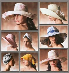Purchased - Sun Hats Package - I love the big brim hats this pattern offers. There is a woman in Boulder that teaches Millinery classes; can't wait to take them.