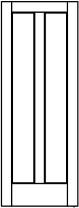 Line-Drawing-2-Flat-wood-panel-vertical | Woodport Doors