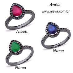 Já conferiram as #novidades em #anéis no nosso site??  Acesse ➡️ www.nieva.com.br e antecipe suas compras de #natal #semijoias #rubi #safira #esmeralda #presentedenatal #natal #anelgotinha #blackfriday #shopnow