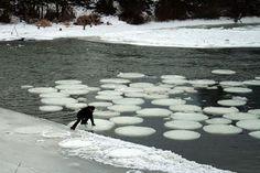 Ice Circles, A Natural Geometric Wonder