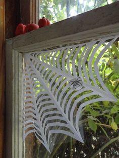 Corner spider web instructions.