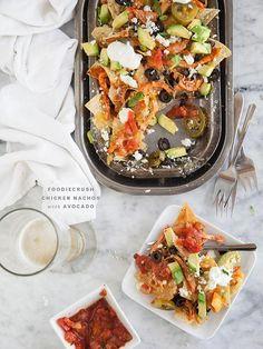 ChicKen Recipe: Game Day Chicken Nachos with Avocado Recipe