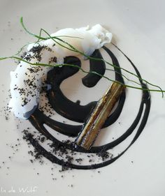 cuttlefish of the North Sea, Swiss chard stems and ashes