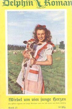 1950: Delphin Roman (German) magazine cover of Marilyn Monroe .... #normajeane #vintagemagazine #pinup #iconic #raremagazine #magazinecover #hollywoodactress #monroe #marilyn #1950s
