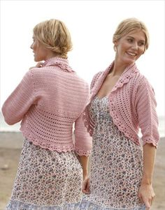 crocheted shrug pattern - Google Search