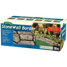 Dalen Products 6 in. x 10 ft. StoneWall Border-E4-10GY - The Home Depot