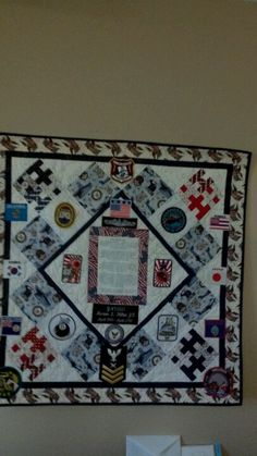 Military wall hanging.