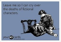 I do giggle, laugh, and cry over my books.