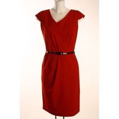 Sloping V-Neck Belted Dress in Red. http://mimi.co.ke/dresses/543/145/new-arrivals/P-sloping-v-neck-belted-dress-in-red.html?coid=46