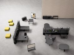 created with gensler, the fantoni atelier collection comprises four highly functional, modular and elegant furniture pieces for your office of tomorrow. Office Furniture Design, Modular Furniture, Modular Workstations, Flexible Furniture, Metal Bookcase, Modular Office, Modular Structure, Workplace Design, Module
