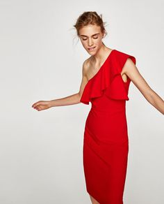 FRILLED ASYMMETRIC DRESS-NEW IN-WOMAN-COLLECTION AW/17 | ZARA United States