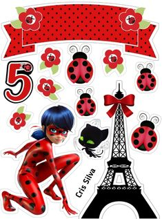 Miraculous Ladybug Party, Happy Birthday, Birthday Parties, Wine Parties, Illustrations And Posters, Creative Cards, Cake Toppers, Personalized Gifts, Birthdays