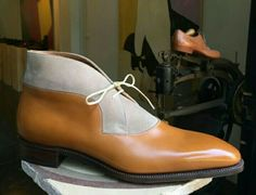Men,s Handmade Ankle High Leather Beige Suede Boots, Tan Leather Formal Boots sold by LeathersPlanet. Shop more products from LeathersPlanet on Storenvy, the home of independent small businesses all over the world. Suede Boots, Leather Boots, Tan Leather, Custom Leather, Men's Shoes, Dress Shoes, Shoes Men, Men Boots, Dress Clothes