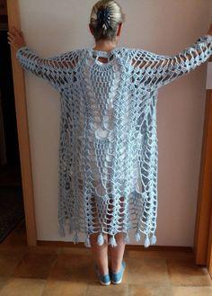 Crochet coat pattern,Crochet summer duster pattern,pdf download,Easy pineapple coat pattern,Jacket,Coat,Duster,Summer pineapple,Sweater,Top by Emmhouse on Etsy