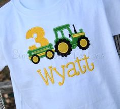 Hey, I found this really awesome Etsy listing at https://www.etsy.com/listing/160203324/tractor-birthday-shirt-sizes-12m-2t-3t