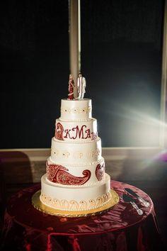 hindu wedding cake; sri lankan wedding cake; indian wedding cake; paisley